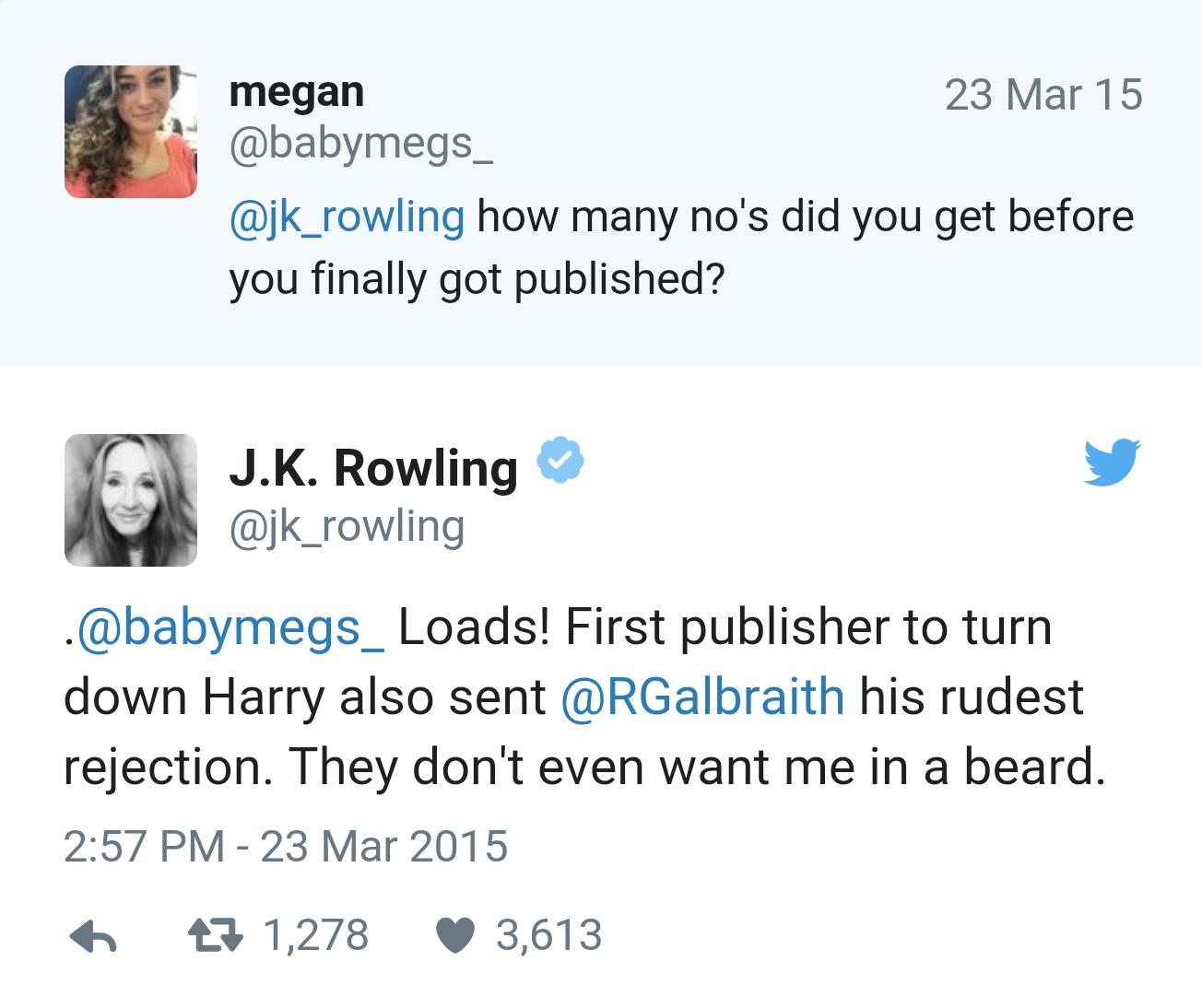 J. K. Rowling twitter žinutė